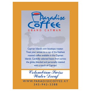 Paradise Coffee Swiss Water Decaf Colombian
